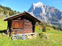 Unterwegs mit dem Trottibike. Rapunzel, Switzerland, Cabin, House Styles, Home Decor, Alps, Vacation, Viajes, Tips
