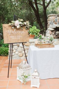 Pantones Colors of the Year The perfect wedding palette - Lori Fairman Wedding Welcome Table, Rustic Wedding Reception, Rustic Wedding Signs, Wedding Table, Rustic Signs, Reception Design, Diy Wedding Decorations, Ceremony Decorations, Decor Wedding