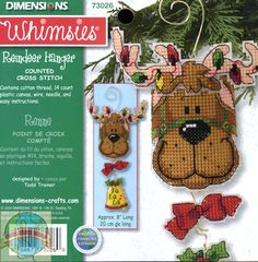 Plastic Canvas Stitches | Dimensions Whimsies - Reindeer Hanger - Cross Stitch World