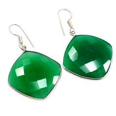 Silvestoo India Green Onyx Gemstone 925 Sterling Silver Earring PG-100785   https://www.amazon.co.uk/dp/B06XXJ4H7C