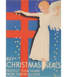 """Buy Christmas Seals, Protect Your Home from Tuberculosis"" (proof, 1939) Rockwell Kent (American, 1882-1971)"