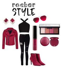 """steal hearts"" by mrudula-26 ❤ liked on Polyvore featuring Topshop, BCBGMAXAZRIA, Miss Selfridge, Balenciaga, Valentino, NARS Cosmetics, Stila, Monica Vinader, rockerchic and rockerstyle"