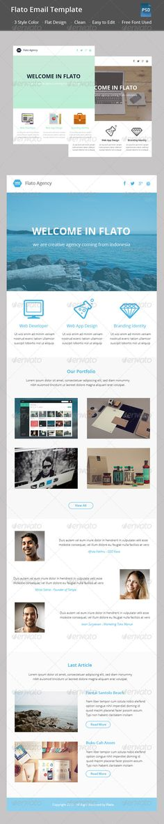 Flat Newsletter Template by We Sell Design Marketing Email - email newsletter template