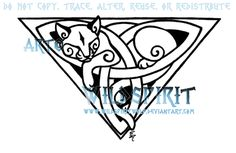 Celtic Triquetra Cat Design by WildSpiritWolf on DeviantArt Cat tattoo – Fashion Tattoos Viking Art, Celtic Tattoos, Art Tattoo, Worlds Best Tattoos, Celtic Symbols, Cat Tattoo Designs, Art, Geometric Tattoo, Cat Design