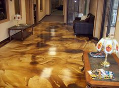 How to Acid Stain Concrete. Easy to Use Acid Stain Project checklist. Everything you need to make your DIY acid stain project a success the first time! Acid Wash Concrete, Diy Concrete Stain, Acid Stained Concrete Floors, Concrete Color, Painting Concrete, Floor Painting, Decorative Concrete, Concrete Projects, White Concrete