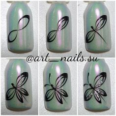 52 ideas for nail art design simple polish Gel Nail Art, Nail Art Diy, Diy Nails, Manicure, Nail Art Designs Videos, Nail Art Videos, Nail Drawing, Butterfly Nail Art, Animal Nail Art