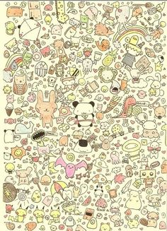 cute doodles to draw | Animals Background Background repeat Colorfull Cute Doodles Draws ...