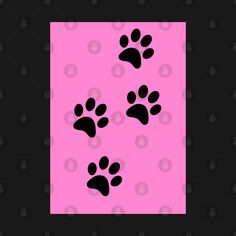 Check out this awesome 'Black+Paw-prints+on+a+Pink+surface' design on @TeePublic! Paw Prints, Blue Butterfly, Surface Design, Awesome, Check, Pink, Stuff To Buy, Pink Hair, Roses
