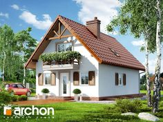 Dom pod kasztanem 2 (P) Three Bedroom House Plan, Classic House Design, Casa Patio, Wood Pallet Furniture, Prefabricated Houses, Attic Rooms, Home Fashion, Cabana, Old Houses