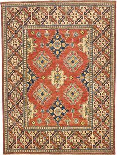 Rust Red 5' 10 x 7' 10 Kazak Oriental Rug | Oriental Rugs | eSaleRugs
