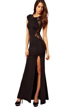 Black dress maxi kinder