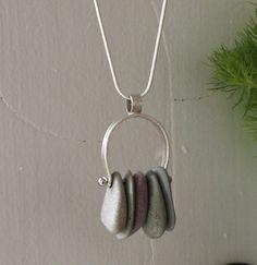 Beach Stone Necklace. Fugudesigns on etsy. $60.00