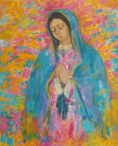 Mama, please bring the children home, keep them safe and send your angels to comfort them🙏 Blessed Mother Mary, Blessed Virgin Mary, Catholic Art, Religious Art, Virgin Mary Art, Virgin Mary Painting, Images Of Mary, Queen Of Heaven, Mama Mary