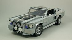 Shelby Eleanor, Ford Mustang Eleanor, Shelby Gt 500, Ford Mustang Classic, Ford Classic Cars, Lego Wheels, Lego Technic Sets, Eco Friendly Cars, Lego Army