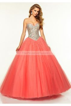 2015 Bicolor tulle Quinceanera Dresses Sweetheart Ball Gown Floor-Length Beaded Bodice - Shop Prom