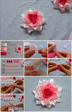 How to Make Kanzashi Ribbon Rose
