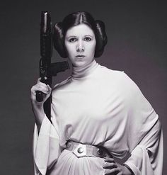 "Carrie Fisher as Princess Leia in Star Wars. Modeled on the classic ""white maiden"" archetype, audiences needed more than just a damsel in distress by 1977. Who doesn't love it when she takes over the operation from her would-be rescuers."