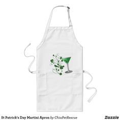 St Patrick's Day Martini Apron  #stpatricksday st.patricks day #saints_patricksday saints patricks day treats #menswear saints patricks day outfits #menshair #saintspatricksday #womensday2018 saints patricks day kids st patricks day apron #decoration #ornaments #mug mens t shirts #apron mens t shirts style #tshirt #hat patricks day jewelry #hoodie #jewelry zazzle products #babyProducts #mensshoes #womenshoes #costumes bibs beanies diaper covers