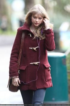 Maroon peacoat! Great for colder weather