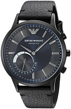 Emporio Armani makes its introduction into wearables with the Emporio Armani Connected hybrid smartwatch. With the dynamic styling of Emporio Armani design and the benefits of today's wearable technol...