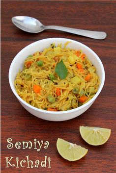 Semiya Kichadi/Vegetable Semiya Upma