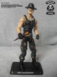 GI JOE SGT. SLAUGHTER ~ Gi joe Action Figure Customs
