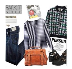 """""""Persun 1- The First Day of School!"""" by mada-malureanu ❤ liked on Polyvore featuring Kate Spade, AG Adriano Goldschmied, Topshop, BackToSchool and persunmall"""