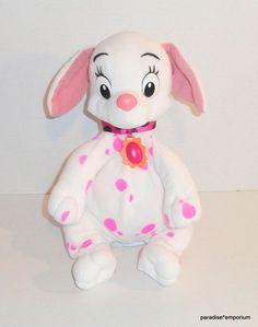 "Disney 101 102 Dalmatians Oddball Plush White Pink Dalmatian Dog Mattel 16"" P77 #Disneytoys #101dalmatians"