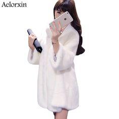 Women Faux Fur Coat Jacket Winter Fur Coat Female   Autumn  #Women'sfaux fur coats
