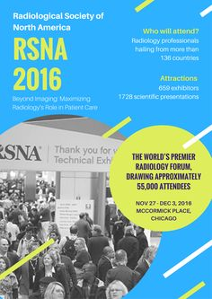 Get a chance to meet radiology professionals from 136 countries at #RSNA 2016 from Nov 27th @ Chicago #eventprofs