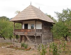 """Traditional houses in rural Romania (case traditionale romanesti) *** Upon arriving in her new home country in the young wife of Prince Carl of Romania noticed in her writings: """"Every R… Craftsman House Plans, Modern House Plans, Viking House, Rural House, Vernacular Architecture, Unusual Homes, Forest House, Cabins And Cottages, Stone Houses"""