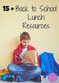15+ Back to School Lunch resources-Not sure if your students are back to school or not but most of the kids around us are. We homeschool and aren't quite ready to start officially just yet but we can still use a nice list of back to school lunch resources no matter what time of year it is. Everyone's gotta eat right?