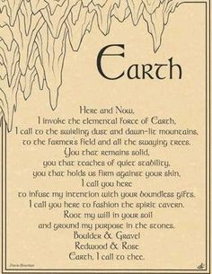 Earth Element Poster on Parchment | eBay
