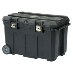 Stanley Rolling Tool Box - i prefer this over the big rubbermaid containers---- wheels and it can be locked