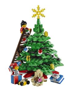Lego Christmas Tree  for children's area upstairs (Make with painted cardboard boxes and pvc end caps glued on top)