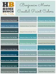 Benjamin Moore Color Palette Ideas Coastal Colors Gray Blues To Aquas And Into The Deep Blue Green