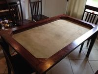 A gaming table easily built in 2 hours for under $200 (or - how to modify an Ikea table to a gaming table) | BoardGameGeek | BoardGameGeek