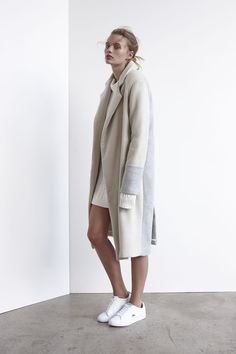Nomadic Long Coat | Oatmeal Two Tone www.viktoriaandwoods.com.au