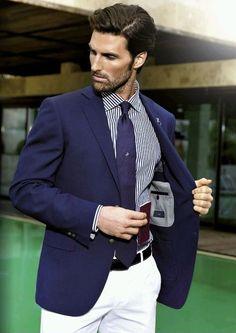 More style inspiration   fashion updates   www.Dapperfied.com Traje Azul  Marino Hombre 821b15981e97