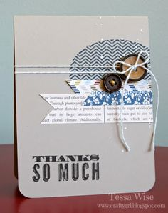 by Tessa Wise, Crafty Girl Designs: Thanks So Much Card