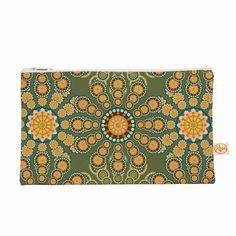 Kess InHouse Miranda MOL Pixelated Bright Orange Pink Pattern Arabesque Digital Vector Round Beach Towel Blanket