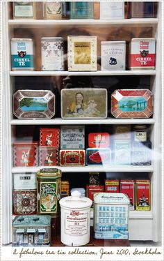 Love Vintage Lables - A Tea Shop in Stockholm by acreativemint, via Flickr