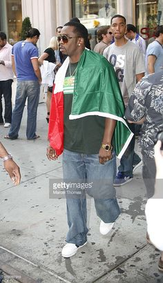 Sean 'Diddy' Combs during Sean Combs, Adriana Lima, and Jay-Z Celebrate Italy's World Cup Win Outside Cipriani's Restaurant - July 9, 2006 at Soho in New York City, New York, United States.
