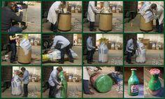 Commande Vedett - Représentation de la bouteille en matériaux recyclés - 2012