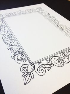 drawing frame ornament ornament and drawings - Drawing Frame