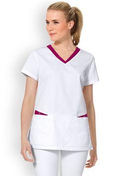 Tunique Scrubs Outfit, Scrubs Uniform, Nursing Dress, Nursing Clothes, Cute Nursing Scrubs, Doctor White Coat, Salon Wear, Stylish Scrubs, Nurse Costume