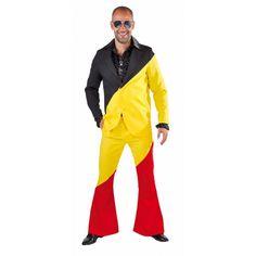 Belgie kostuum voor volwassenen. Dit pak voor volwassenen in de kleuren van de Belgische vlag bestaat uit een broek een jas. Carnavalskleding 2015 #carnaval