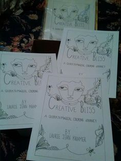 My coloring book available in my etsy shop, Laurie Jean kramer