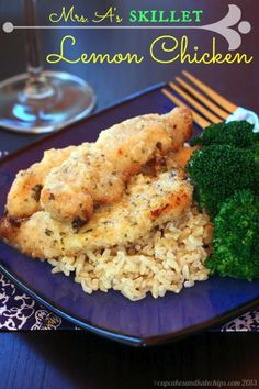 Mrs. A's Skillet Lemon Chicken