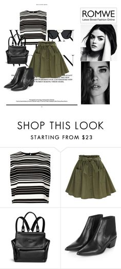 Green by agnesegundega on Polyvore featuring Miss Selfridge, Topshop, Givenchy and Quay